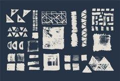 Grupo de texturas geométricas do vetor Testes padrões da coleção ilustração do vetor