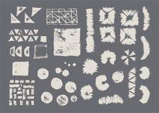 Grupo de texturas geométricas do vetor Testes padrões da coleção ilustração stock