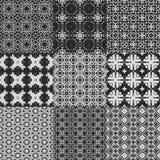 Grupo de texturas geradas sem emenda do laço da cortina Fotografia de Stock