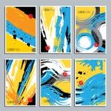 Grupo de texturas tiradas mão Fundo artístico de Abtract ilustração royalty free