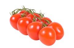 Grupo de tomates de cereja Fotografia de Stock