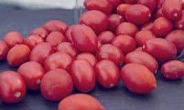 Grupo de tomates de cereja de Pachino Imagens de Stock