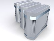 Grupo de torres do computador ilustração royalty free