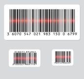 Grupo de três códigos de barras Imagem de Stock