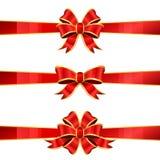 Grupo de três curvas vermelhas Foto de Stock Royalty Free