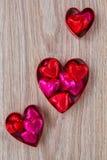 Grupo de três doces do coração imagens de stock
