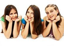 Grupo de três raparigas Imagens de Stock