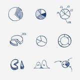 Grupo de tração da mão da torta do gráfico do diagrama de carta do círculo Fotografia de Stock