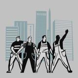 Grupo de trabajadores libre illustration