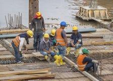 Grupo de trabajadores de construcción en Guayaquil Ecuador Foto de archivo