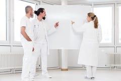 Grupo de trabajadores médicos Fotografía de archivo libre de regalías