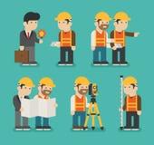 Grupo de trabalhador da construção ilustração stock