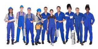 Grupo de trabalhadores industriais Fotos de Stock Royalty Free