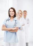 Grupo de trabalhadores médicos Fotografia de Stock