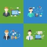 Grupo de trabalhos da gestão empresarial, ilustração do vetor Imagem de Stock Royalty Free