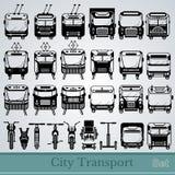 Grupo de transporte da cidade Imagem de Stock