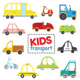 Grupo de transporte das crianças ilustração do vetor