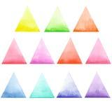 Grupo de triângulos coloridos Fotos de Stock