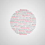 Grupo de términos de márketing rojos Fotos de archivo libres de regalías