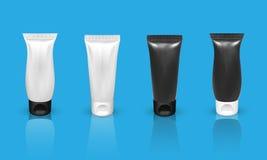 Grupo de tubo realístico no fundo azul Ilustração do vetor Foto de Stock