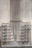 Grupo de tubos do metal foto de stock