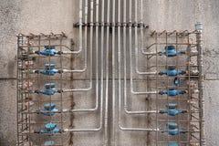 Grupo de tubos do metal imagens de stock