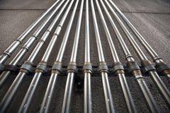 Grupo de tubos do metal imagem de stock