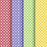 Grupo de um vetor bonito de quatro testes padrões Foto de Stock