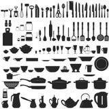 Grupo de untesils da cozinha Fotografia de Stock