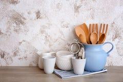Grupo de utensílios de cozimento e de ¿ do dishware Ð imagens de stock