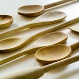 Grupo de utensílios de madeira Fotos de Stock