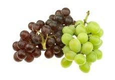 Grupo de uvas Seedless vermelhas e brancas Imagem de Stock Royalty Free