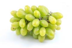 Grupo de uvas verdes maduras e suculentas Imagens de Stock Royalty Free