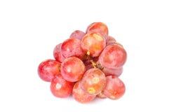 Grupo de uvas vermelhas Fotografia de Stock