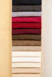 Grupo de matérias têxteis da cor Imagens de Stock Royalty Free