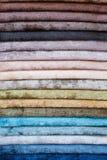 Grupo de matérias têxteis da cor Foto de Stock Royalty Free