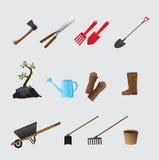 Grupo de vários artigos de jardinagem Foto de Stock Royalty Free