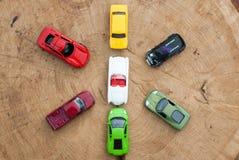 Grupo de vários brinquedos dos carros, Imagens de Stock Royalty Free