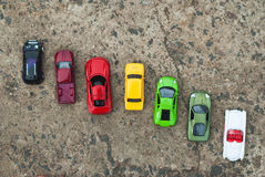 Grupo de vários brinquedos dos carros, Fotos de Stock