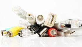 Grupo de vários cabos do computador Fotos de Stock