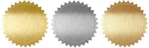 Grupo de vários selos do metal Foto de Stock