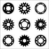 Grupo de vários tipos de ícones da roda do spocket imagens de stock royalty free