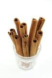Grupo de varas de canela Fotografia de Stock