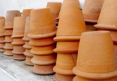 Grupo de vasos da argila Foto de Stock