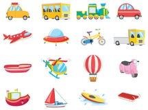 Grupo de veículos do transporte Imagens de Stock
