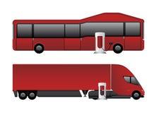 Grupo de veículos elétricos ilustração stock