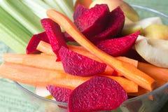 Grupo de vegetais crus e de frutos Fotos de Stock
