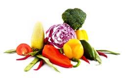 Grupo de vegetais diferentes Fotos de Stock Royalty Free