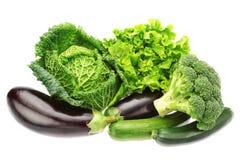 Grupo de vegetais verdes. Fotografia de Stock