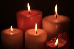 Grupo de velas ardentes Imagens de Stock Royalty Free